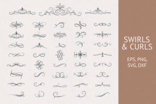 Ornate Borders,Swirls & Curls Collection Graphic Illustrations By Kirill's Workshop