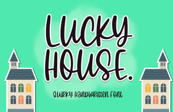 Print on Demand: Lucky House Script & Handwritten Font By Typefar