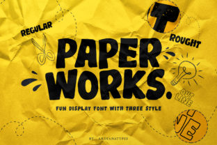 Print on Demand: Paper Works Display Font By ardyanatypes 1