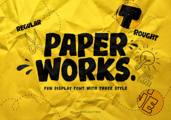 Print on Demand: Paper Works Display Font By ardyanatypes