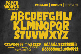 Print on Demand: Paper Works Display Font By ardyanatypes 8