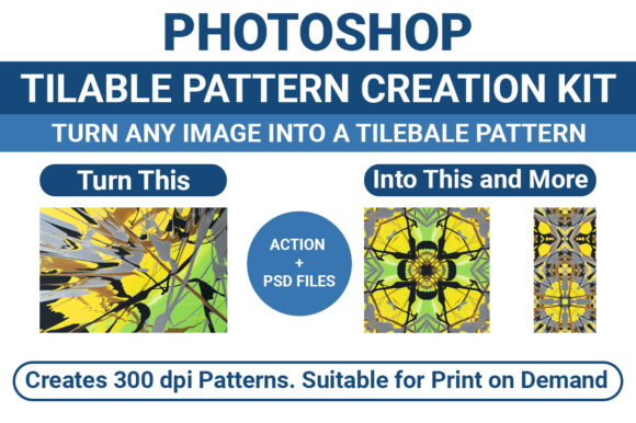 Photoshop Tileable Pattern Creation Kit Graphic Actions & Presets By highskydesign