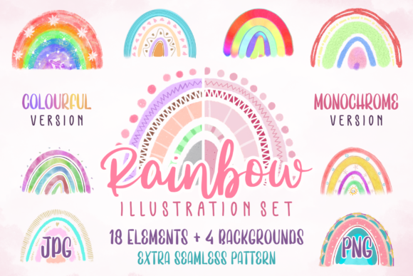 Print on Demand: Rainbow Illustration Set Graphic Illustrations By colllabstudio