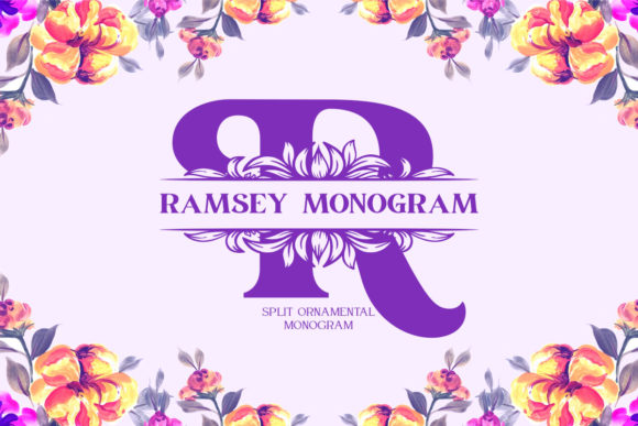 Print on Demand: Ramsey Monogram Display Font By Monogram Lovers