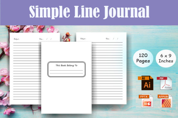 Simple Lined Journal - KDP Interior Graphic KDP Interiors By Sei Ripan