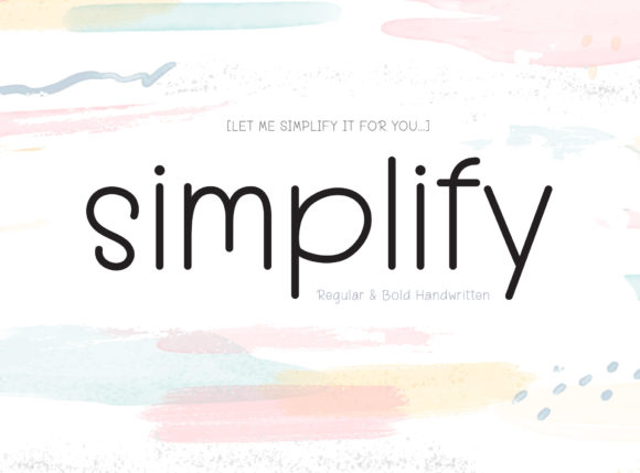 Print on Demand: Simplify Script & Handwritten Font By BB Digital Arts