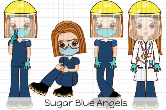 Sugar Blue Angels Graphic Illustrations By Dolls To Go