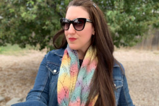 Sunset Ridge Scarf Knit Pattern Graphic Knitting Patterns By Knit and Crochet Ever After 3