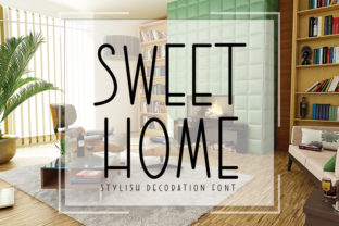 Print on Demand: Sweet Home Sans Serif Fuente Por K_IN Studio