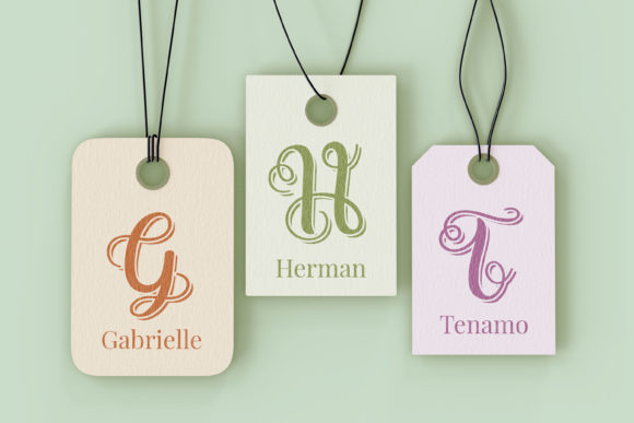 Swirly Letters Font Design