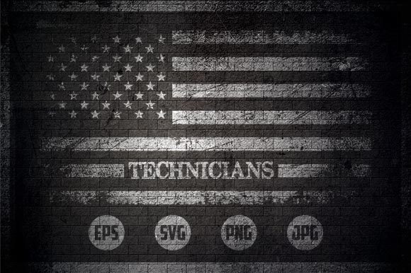Technicians - USA Flag Graphic Crafts By Creative Mind