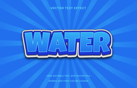 Text Effect Editable - Water Graphic Add-ons By aalfndi