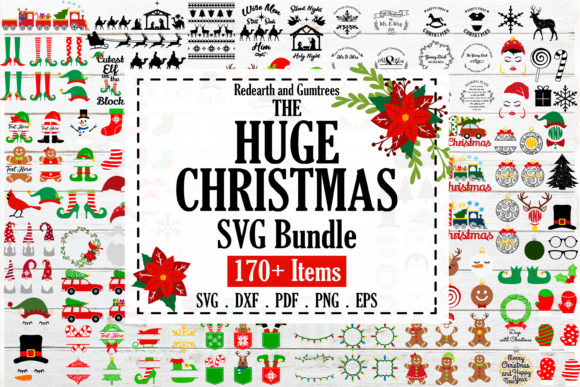 The Huge Christmas and Winter Bundle Gráfico Crafts Por redearth and gumtrees