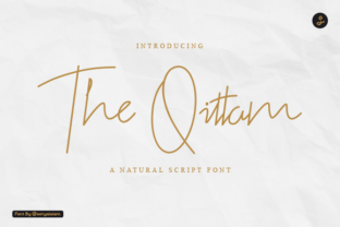 Print on Demand: The Qittam Script & Handwritten Font By setyaisiam