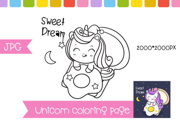 Unicorn Coloring Page Preschool Pony Graphic Coloring Pages & Books Kids By vividdiy8