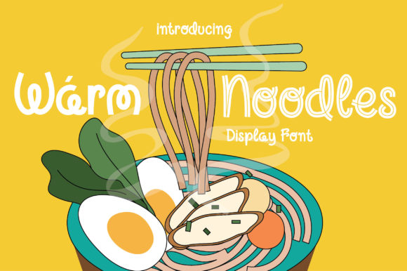 Print on Demand: Warm Noodles Display Font By Caoca Studios