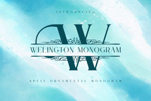 Print on Demand: Welington Monogram Display Font By Monogram Lovers