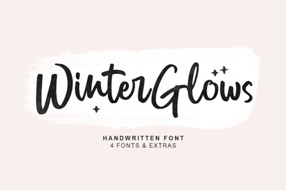 Print on Demand: Winter Glows Script & Handwritten Font By fargunstudio