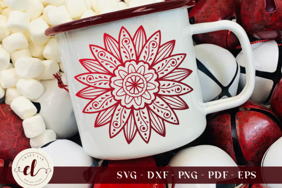 Zentangle Sunflower Graphic Crafts By CraftlabSVG