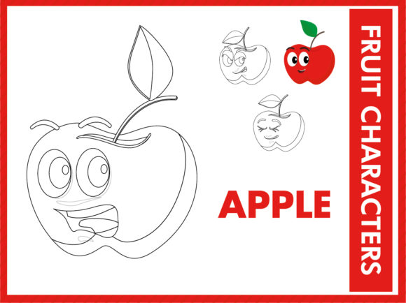 Fruity Characters Coloring Book Graphic Coloring Pages & Books Kids By ayobergembira