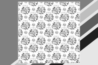 Illustration Seamless Pattern with Bulldog Graphic Illustrations By Epic.Graphic