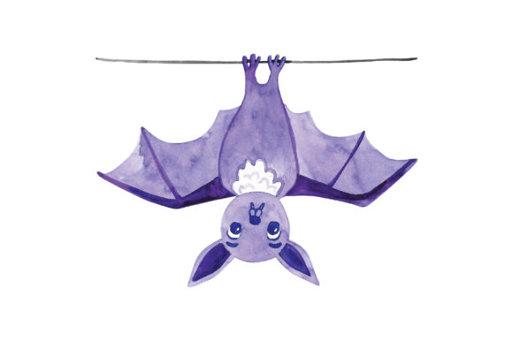 Bat Hanging from Wire Animals Craft Cut File By Creative Fabrica Crafts