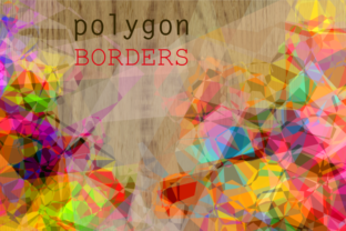 Print on Demand: Abstract Geometric Polygon Page Borders Graphic Backgrounds By Prawny