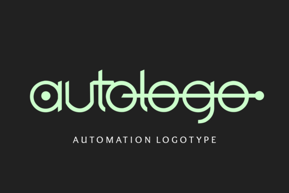 Print on Demand: Autologo Display Font By Prast Art