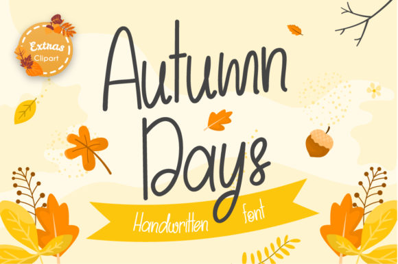 Print on Demand: Autumn Days Script & Handwritten Font By Helotype