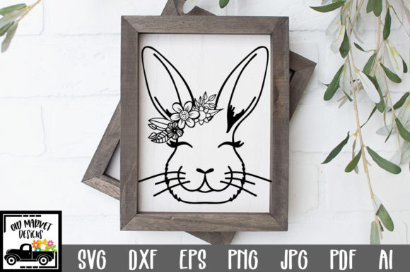 Print on Demand: Bunny File - Bunny Face Graphic Crafts By oldmarketdesigns