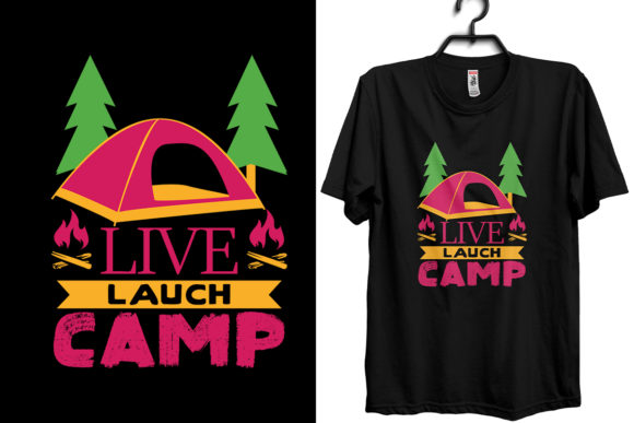 Camping T-shirt Design Template Graphic Print Templates By Storm Brain