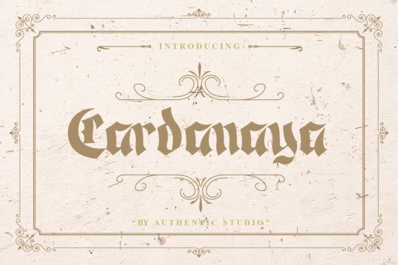 Print on Demand: Cardanaya Blackletter Font By Authentic Studio