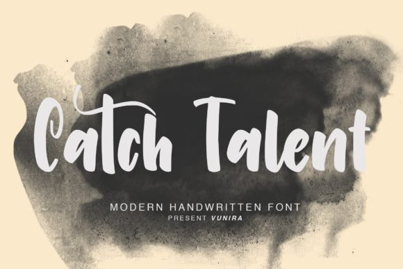 Print on Demand: Catch Talent Script & Handwritten Font By Vunira