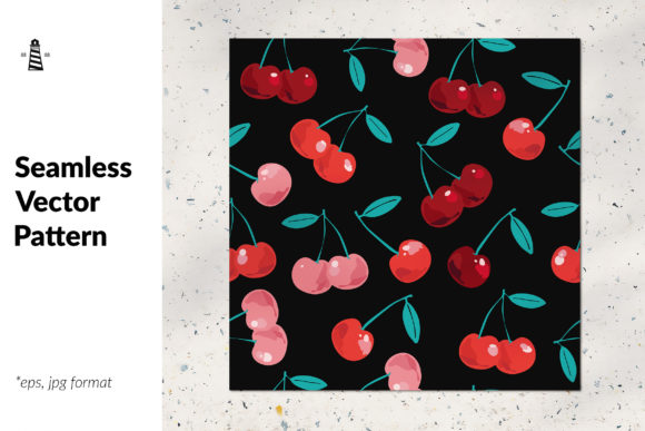 Print on Demand: Cherry Seamless Pattern Graphic Patterns By northseastudio