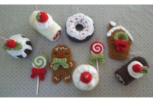 Christmas Sweets Ornament Pattern Set Graphic Crochet Patterns By Amy Gaines Amigurumi Patterns 1