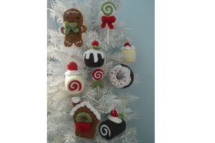 Christmas Sweets Ornament Pattern Set Graphic Crochet Patterns By Amy Gaines Amigurumi Patterns 2