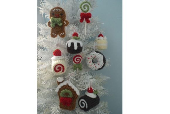 Christmas Sweets Ornament Pattern Set Graphic Crochet Patterns By Amy Gaines Amigurumi Patterns - Image 2
