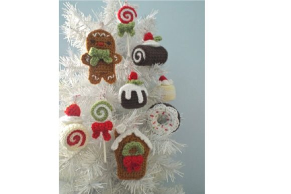 Christmas Sweets Ornament Pattern Set Graphic Crochet Patterns By Amy Gaines Amigurumi Patterns - Image 3