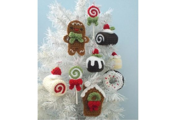 Christmas Sweets Ornament Pattern Set Graphic Crochet Patterns By Amy Gaines Amigurumi Patterns - Image 4