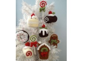 Christmas Sweets Ornament Pattern Set Graphic Crochet Patterns By Amy Gaines Amigurumi Patterns 5
