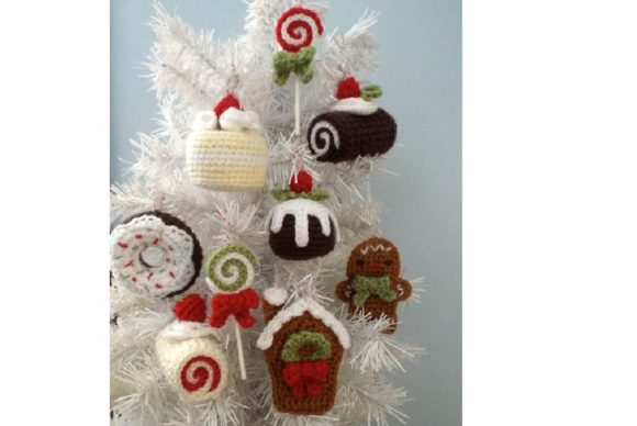Christmas Sweets Ornament Pattern Set Graphic Crochet Patterns By Amy Gaines Amigurumi Patterns - Image 5