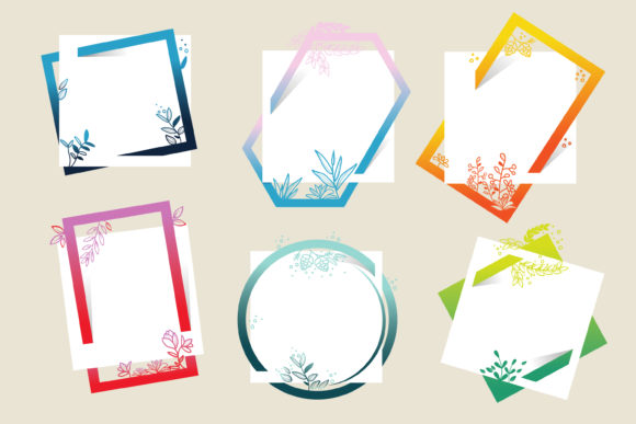 Colorful Flower Frames Graphic Illustrations By onoborgol
