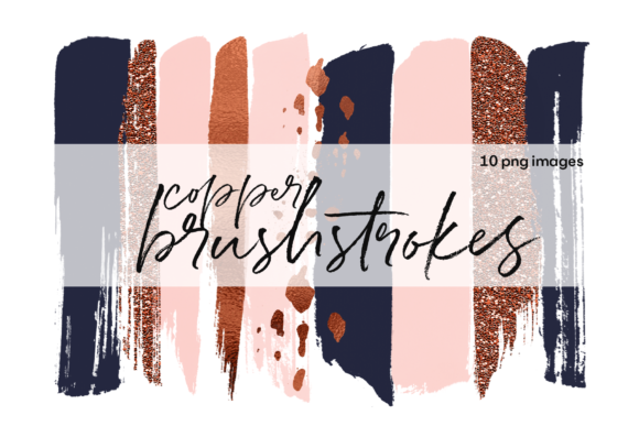 Copper Brushstrokes Graphic Illustrations By KA Designs