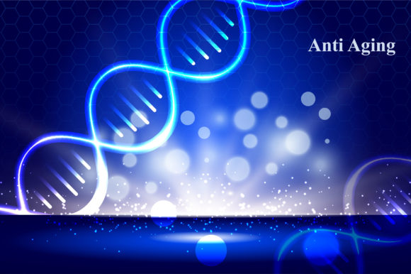 Cosmetics Anti Aging Ads with DNA Graphic Illustrations By nhongrand