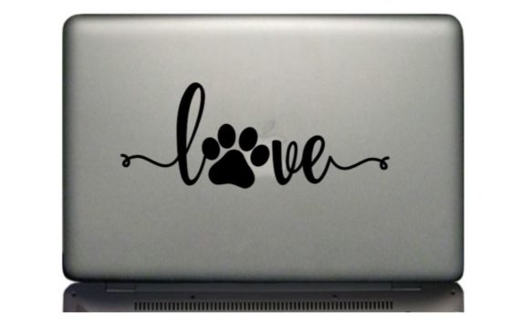 Download Cursive Love with Dog Paw Print (Graphic) by Treasures In ...