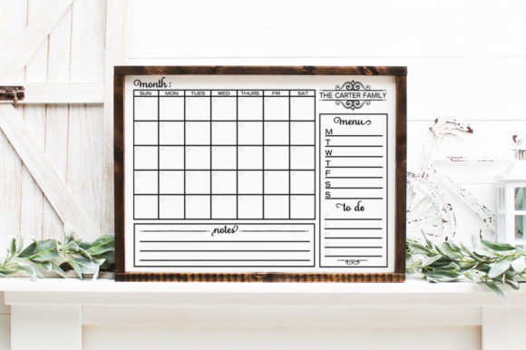 Customizable Family Calendar Graphic Crafts By Simply Cut Co