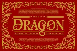 Print on Demand: Dragon Display Font By Vunira