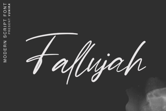 Print on Demand: Fallujah Script & Handwritten Font By Vunira