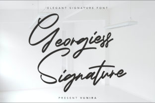 Print on Demand: Georgiess Signature Script & Handwritten Font By Vunira
