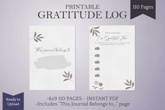 Print on Demand: Gratitude Journal Ready to Upload KDP Graphic KDP Interiors By Digital Town
